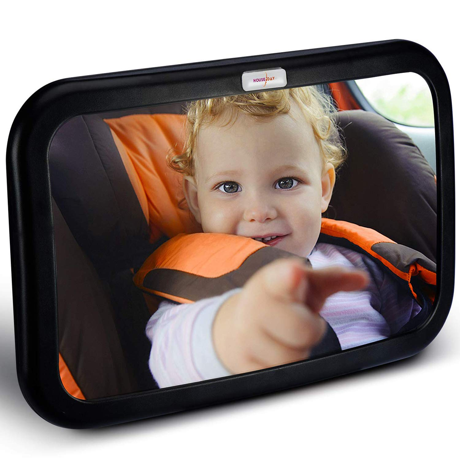 HOUSEDAY Baby Car Mirror Stable Wide View Infant in Rear Facing Seat Safety Shatterproof Crash Tested Car Seat Mirror