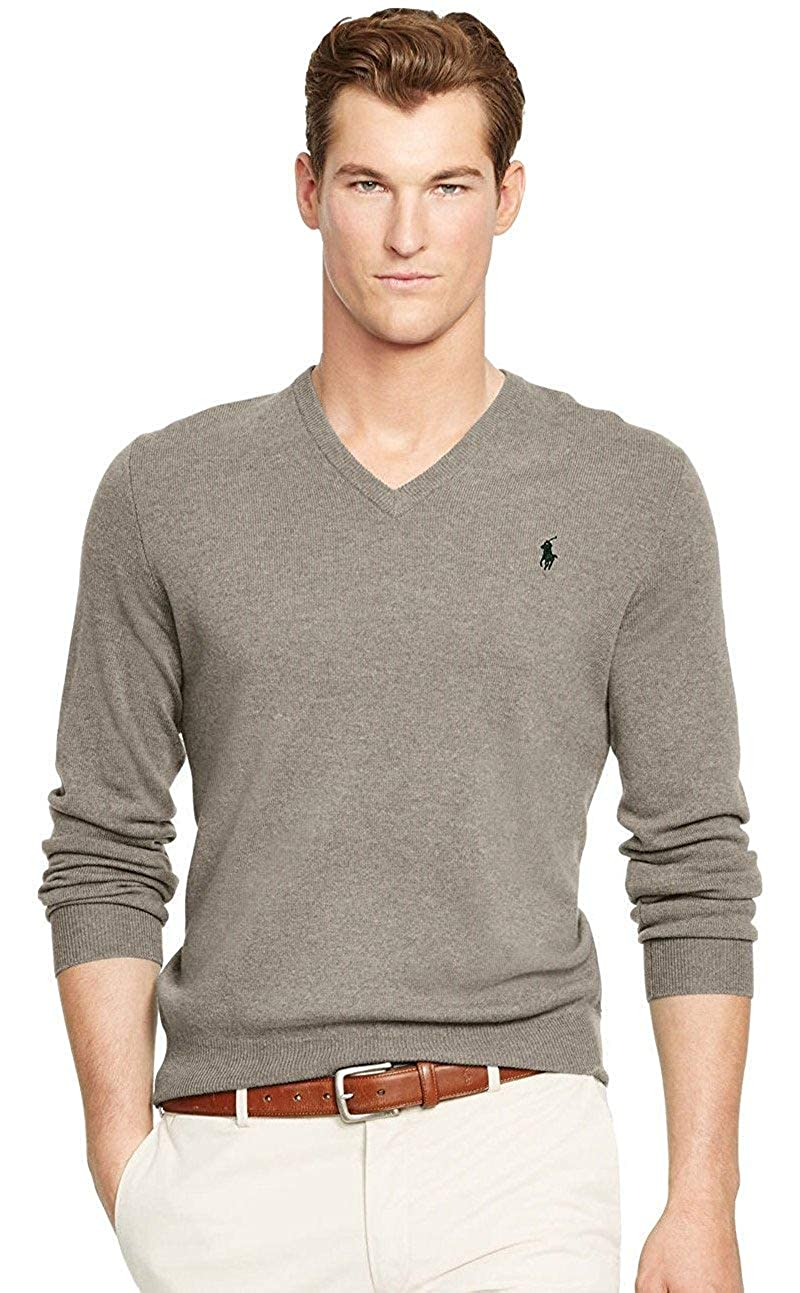 Polo Ralph Lauren Mens Knit Ribbed Trim Pullover Sweater 710519450002