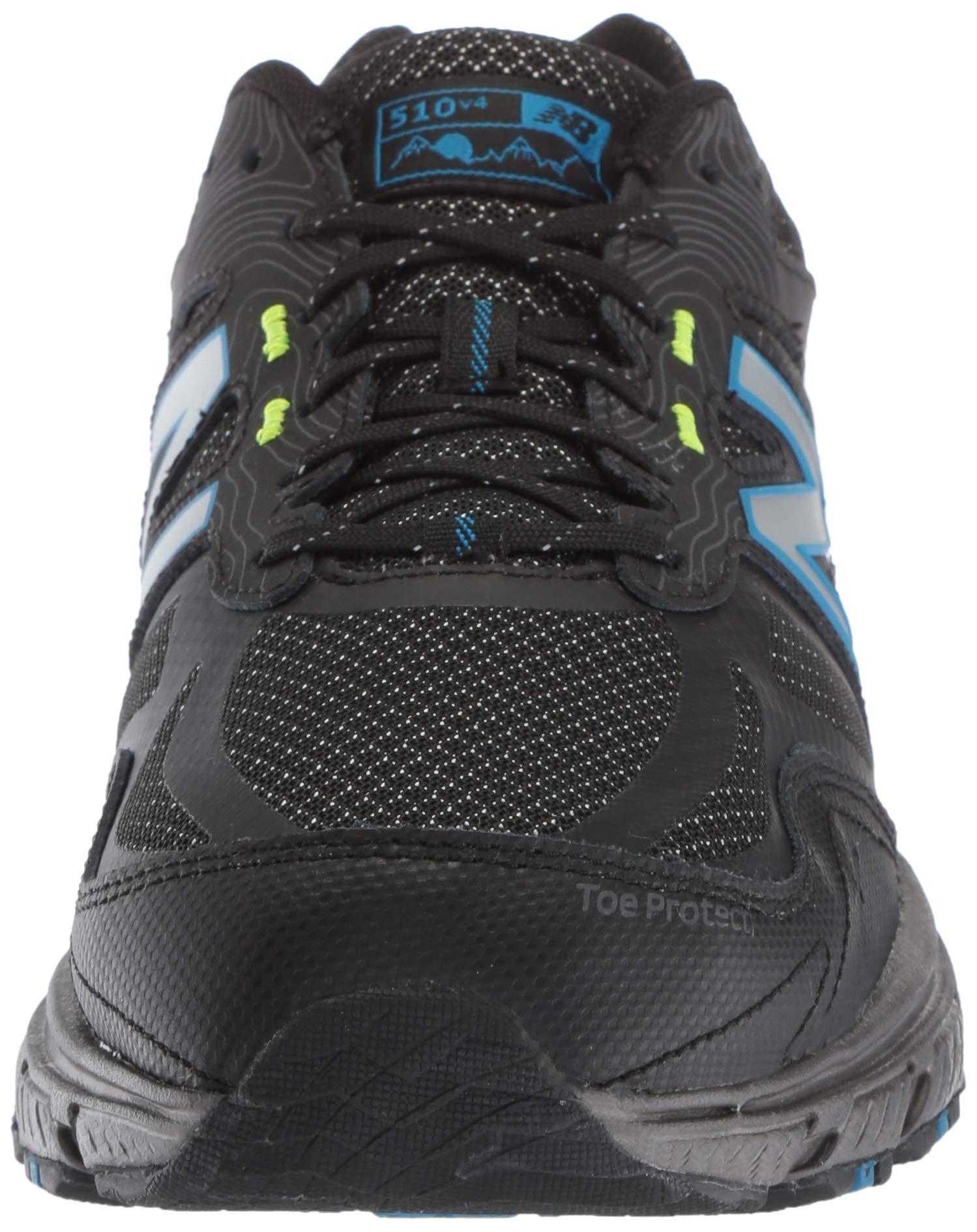 New Balance Men's 510v4 Cushioning Trail Running Shoe, Magnet/Black/Reflective, 7.5 D US by New Balance (Image #4)
