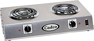 Cadco CDR-1T Countertop Double 120-Volt Hot Plate