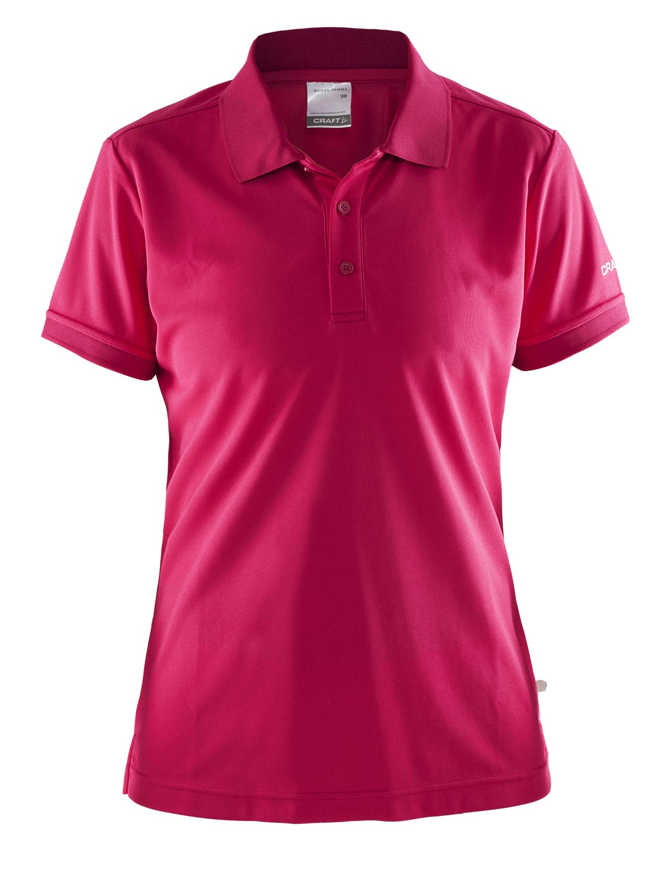 Craft Women's Polo Shirt Classic Button Style Workout Top, Dry Fit Golf T