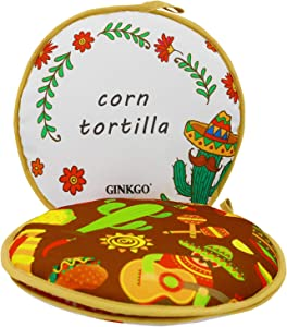 GINKGO Tortilla Warmer 11 Inch Insulated Cloth Pouch - Microwavable Use Fabric Bag to Keep Food Warm for up to One Hour