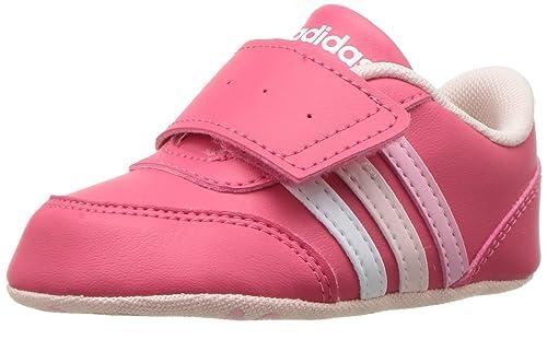 f66104ebdb8c7 adidas Girls  V Jog Crib Sneaker