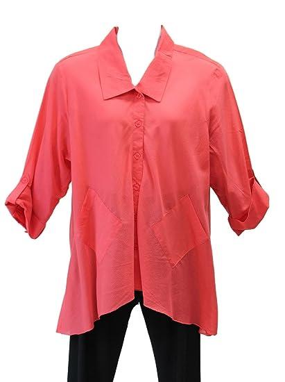a40d788db45 Bleu Bayou Women s Bias Cut Coral Tunic Plus Size (3X
