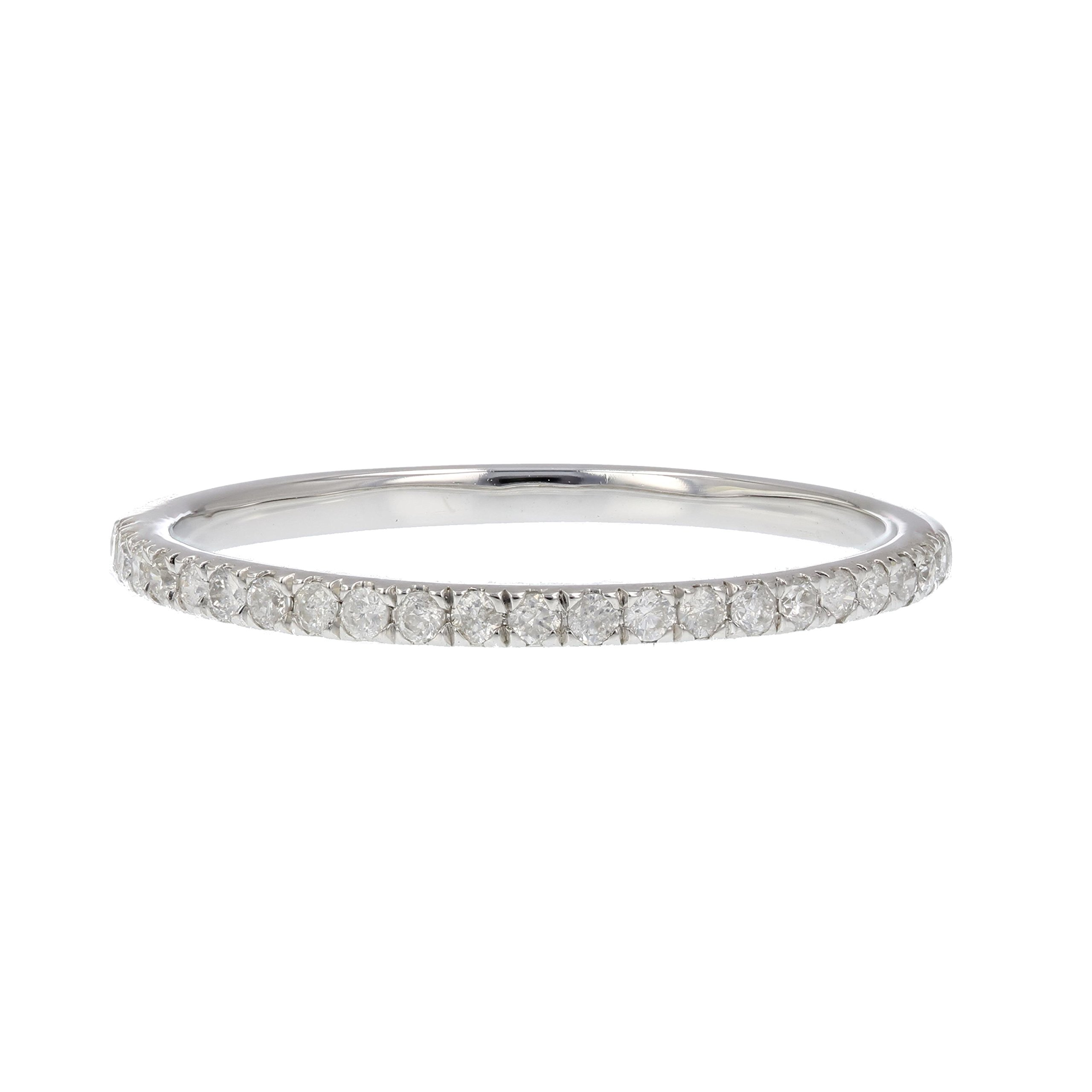 1/6 ctw Pave Diamond Wedding Band in 10K White Gold In Size 5 by Vir Jewels (Image #4)