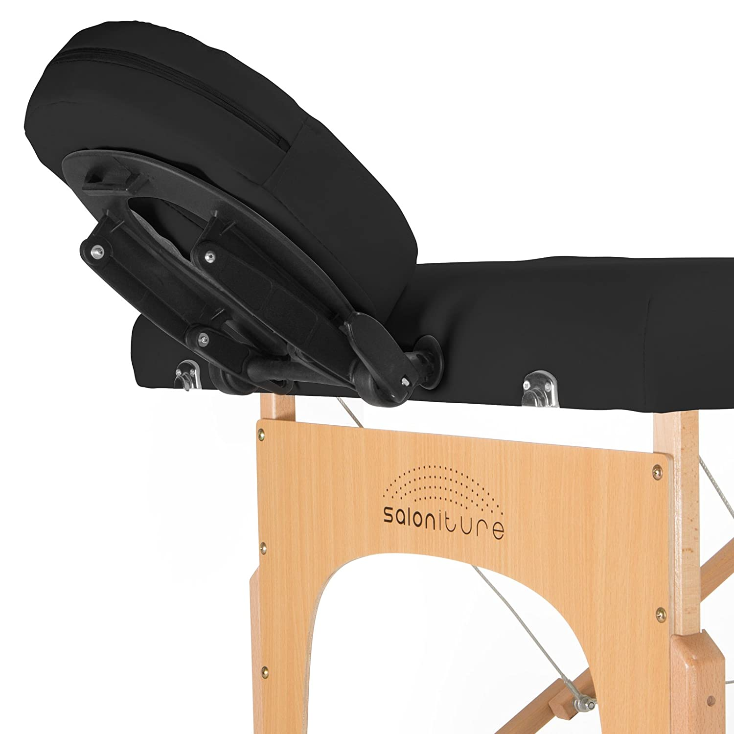 Saloniture Professional Portable Folding Massage Table with Carrying Case - Black: Beauty