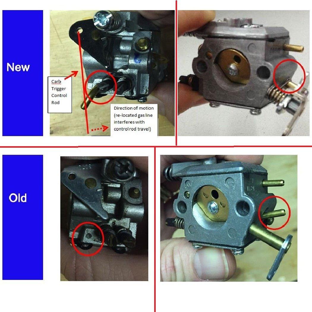 Gator Parts C1u W8 Carburetor For Poulan Chainsaw 1950 Diagram Further Walbro Wt Rebuild On Zama 2050 2150 2375 89 891 W14 Garden Outdoor