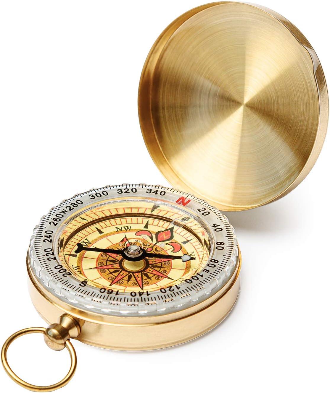 Silver Portable Pocket Compass f/ür Outdoor Camping Wandersport Navigation Outdoor Sport Compass Yosoo Camping Compass