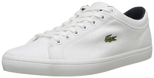 Lacoste Straightset Bl 2 Cam, Sneaker Uomo, Bianco (White), 47 EU