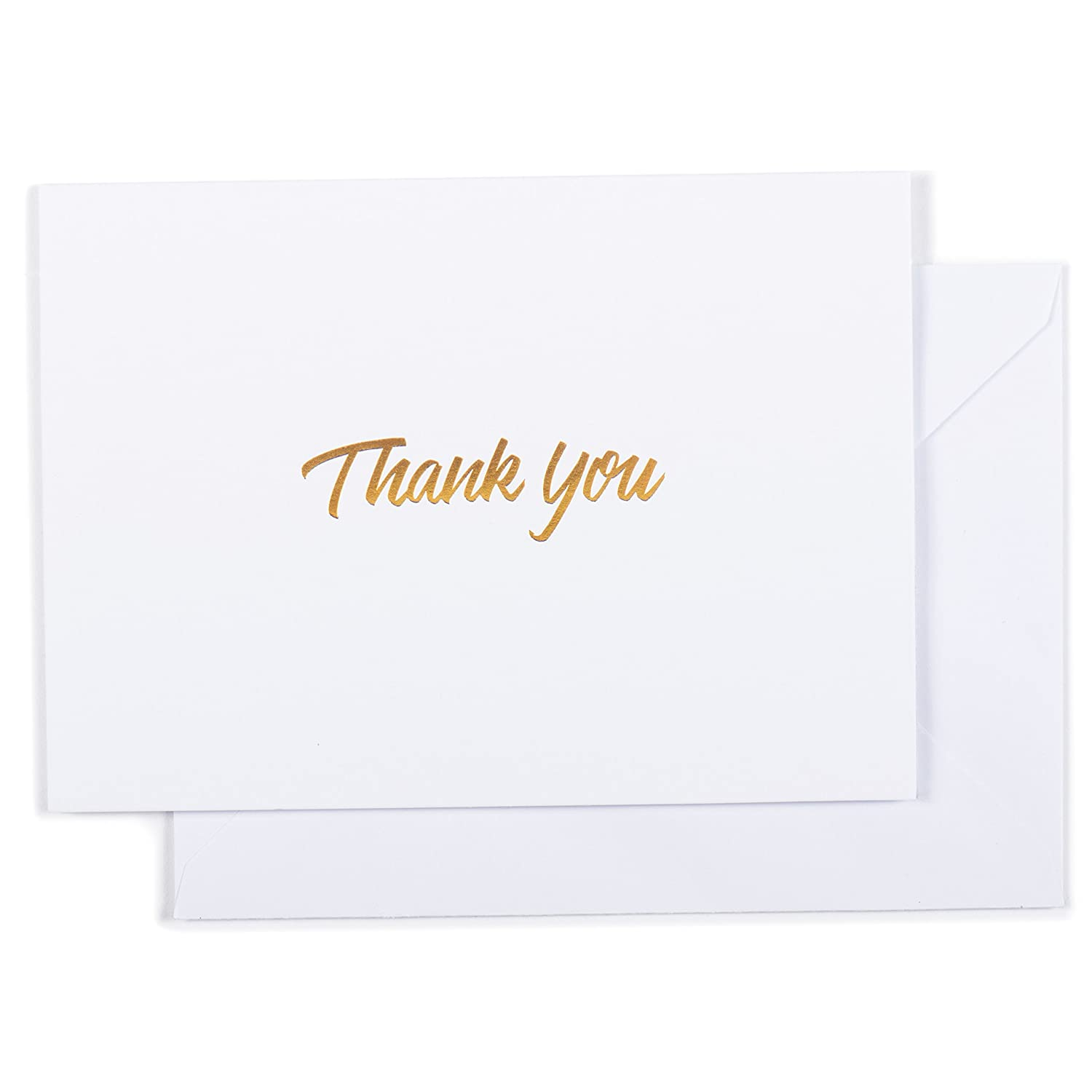 100 Thank You Cards Black Bulk Note Cards With Gold Foil Embossed