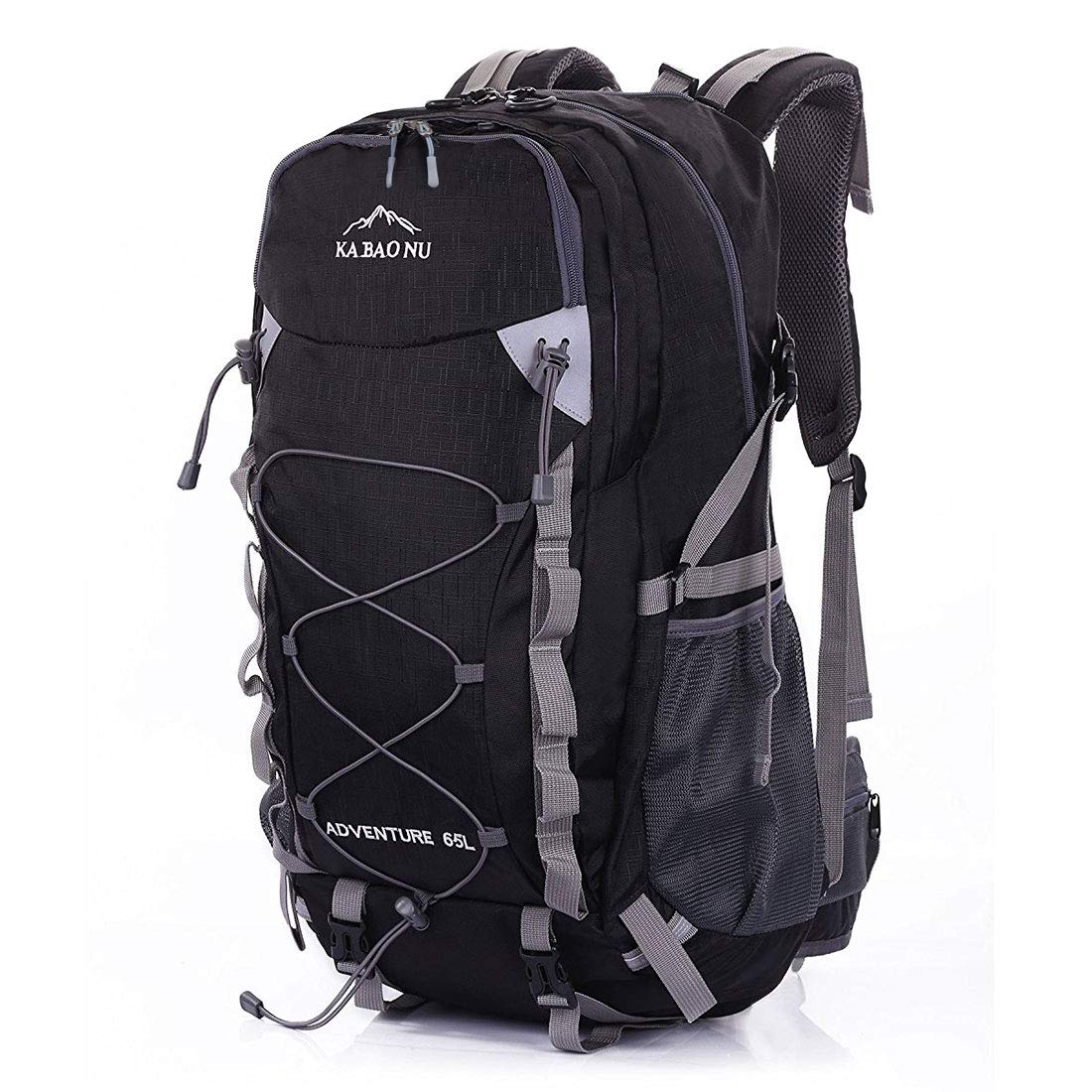 4ad4801e17 Amazon.com   Mooedcoe 65L Waterproof Hiking Daypack Outdoor Travel Camping  Backpack for Men (Black)   Sports   Outdoors