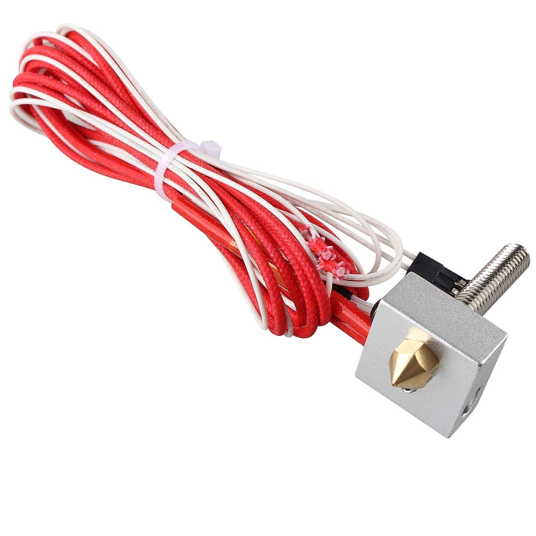 12 V 40 W MK8 extrusor Hotend con termistor, M6 x 30 mm PTFE forro ...