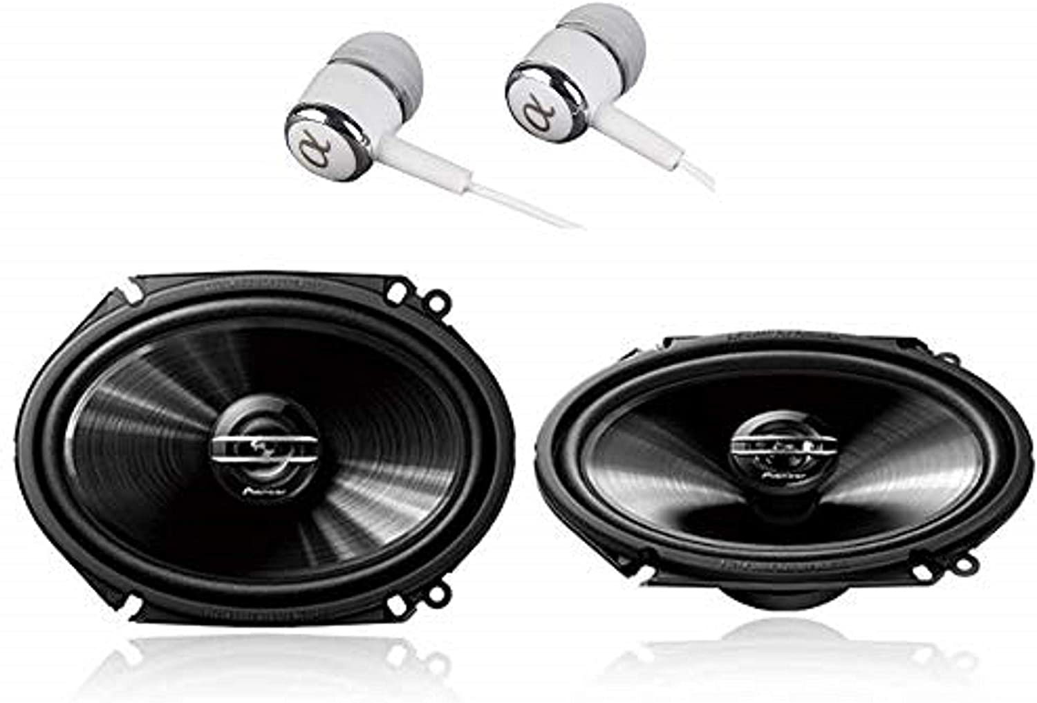 "Pioneer TS-G6820S 500 Watts Max Power 6x8/5""x7"" 2-Way G-Series Coaxial Full Range Car Audio Stereo Speakers"
