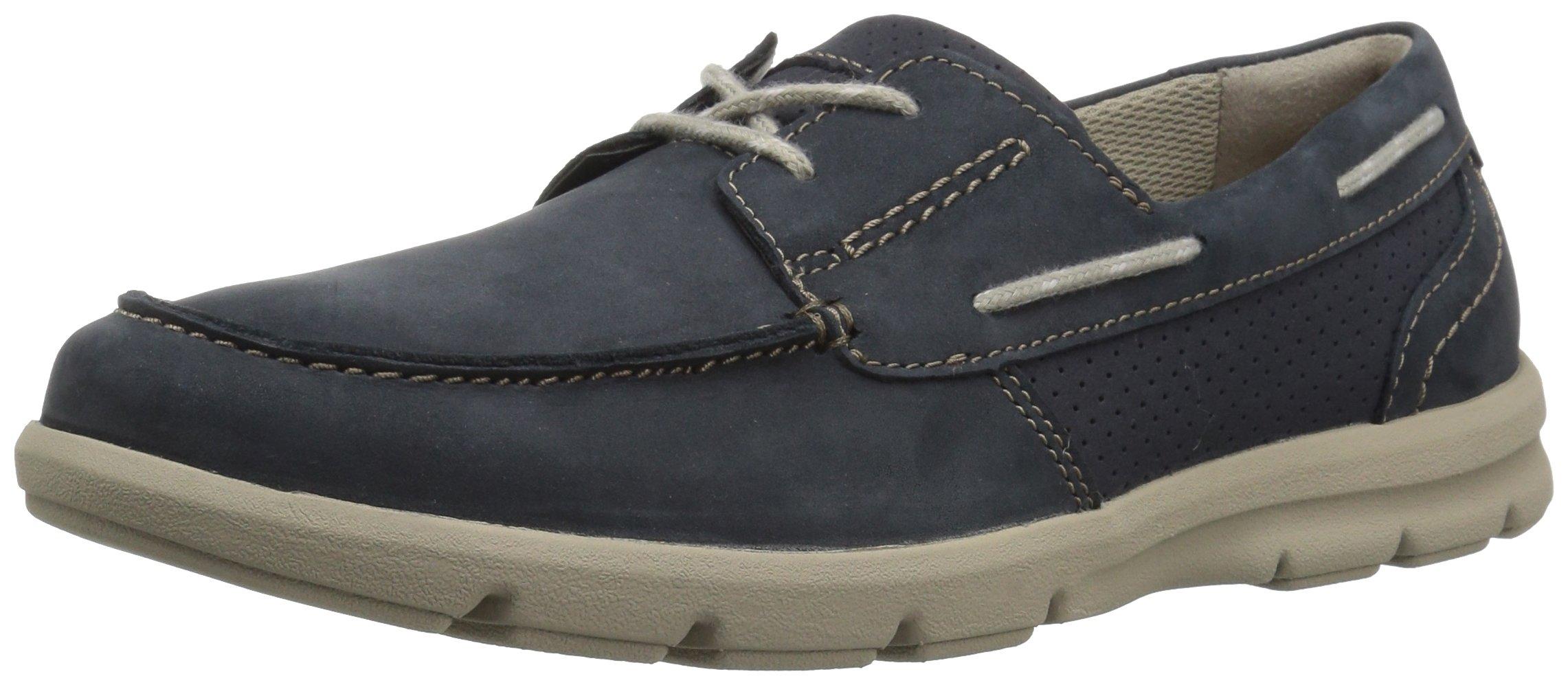 CLARKS Men's Jarwin Edge Sneaker, Navy Nubuck, 11.5 Medium US