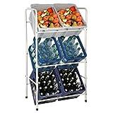 Kastenständer / Kistenregal – für 3, 6 oder 9 Kisten – in blau oder weiß Flaschenkastenregal Getränkekistenregal (6 Kisten (73x30x116cm), Weiß)