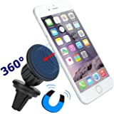 iVoler Supporto Auto Smartphone Magnetico Universale Porta Cellulare Regolabile 360 per iPhone 7/7 Plus/6s/6s Plus/6 /6 Plus/5S/5C/4S, Samsung Galaxy S7/ S7 Edge/S6/ S6 Edge, Huawei P9, Sony Xperia, GPS, MP3 Player e più (Nero)