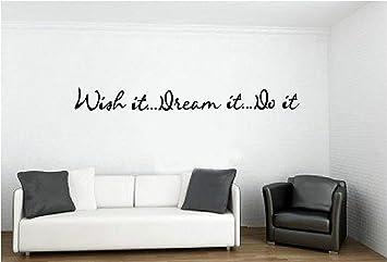 nspiration deseo soñar hacerlo vinilo adhesivo para pared arte pegatinas vinilo decoración presupuesto letras refranes cocina deporte decoración del hogar: ...