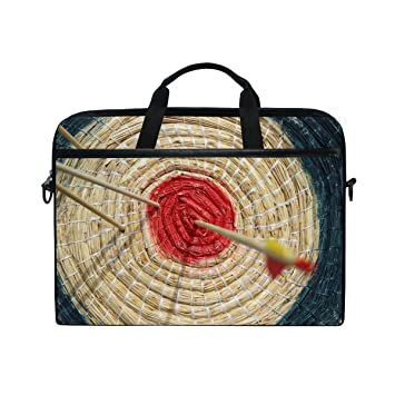 4e4dcf2f872f Bennigiry Game Archery Target Laptop Messenger Shoulder Bag Case Cover  Briefcase for 14-15.6 Inch Notebook Computer  Amazon.co.uk  Computers    Accessories