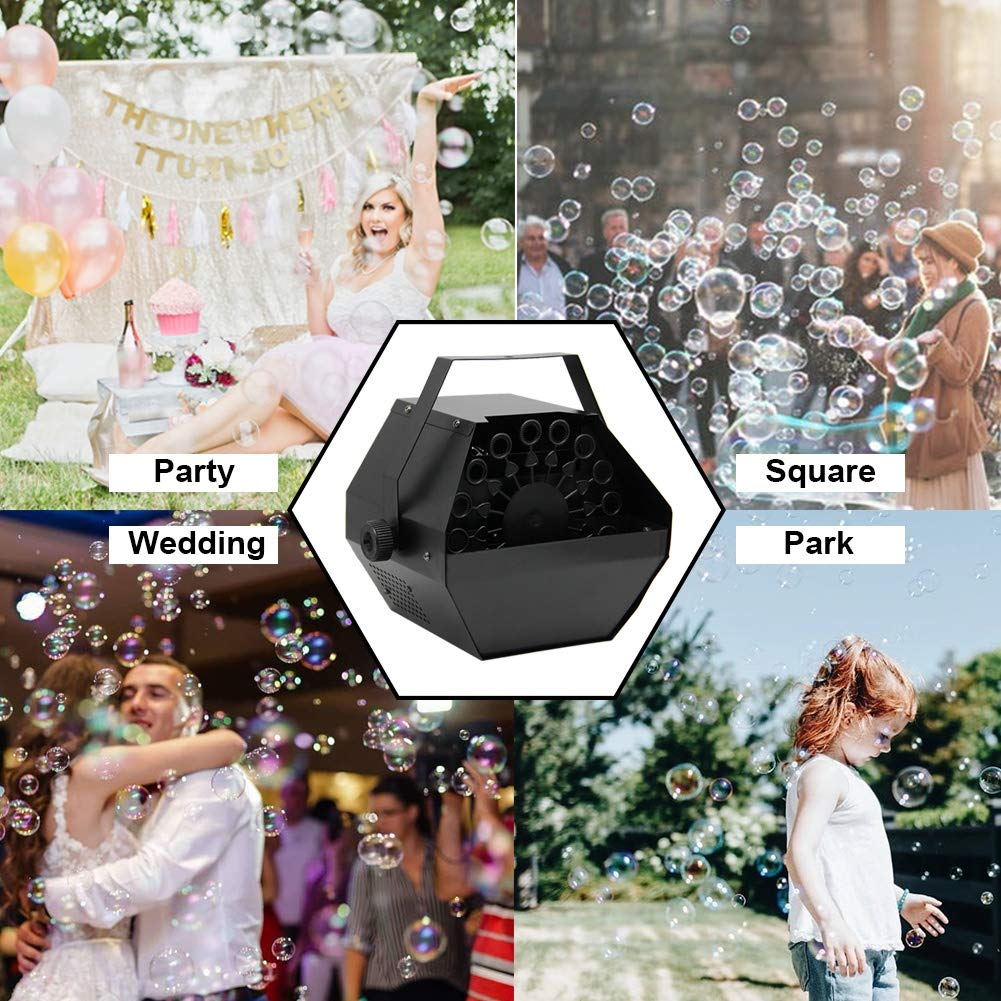 ATDAWN Portable Bubble Machine, Professional Automatic Bubble Maker with High Output for Outdoor/Indoor Use, Wireless Remote Control (Black) by ATDAWN (Image #5)