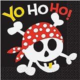 Partygram - 16 servilletas pirata, 33 x 33 cm  (40492)