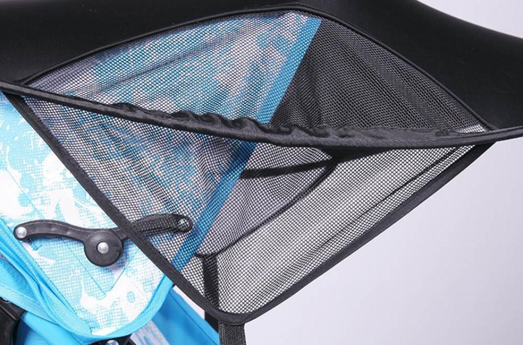 JPOQW UPF 50+ Adjustable Baby Stroller Sun Shade Sun Visor (Black) by JPOQW (Image #5)