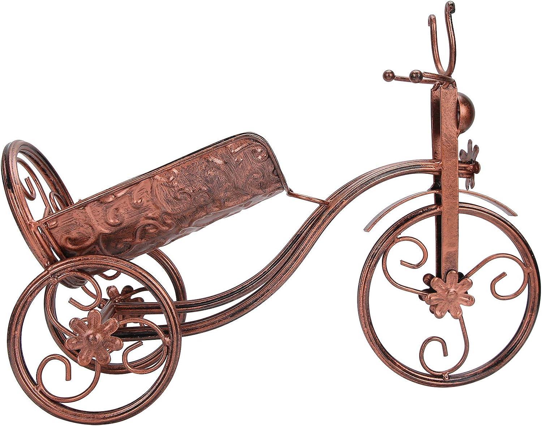 Wine Holder, Iron Wine Bottle Stand, Bike Shape for Bar Counter Wine Cellar KTV Home Decor(Bronze)