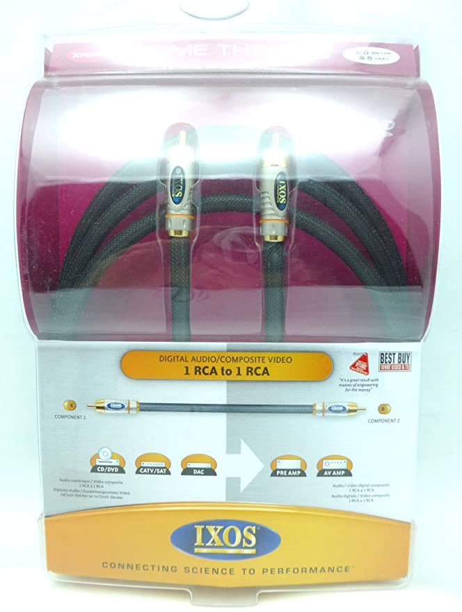 Amazon.com: IXOS XHD408 2 meter Digital Coaxial Cable XHD408-200 retail packaging: Home Audio & Theater