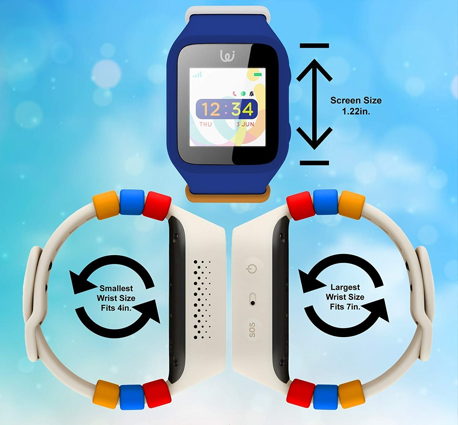 iGPS Wizard Smart Watch for Kids with SIM Card - Live GPS Tracking -  Cellular Voice & Text - Adjustable - Water Resistant - SOS, Danger Zone &  Device