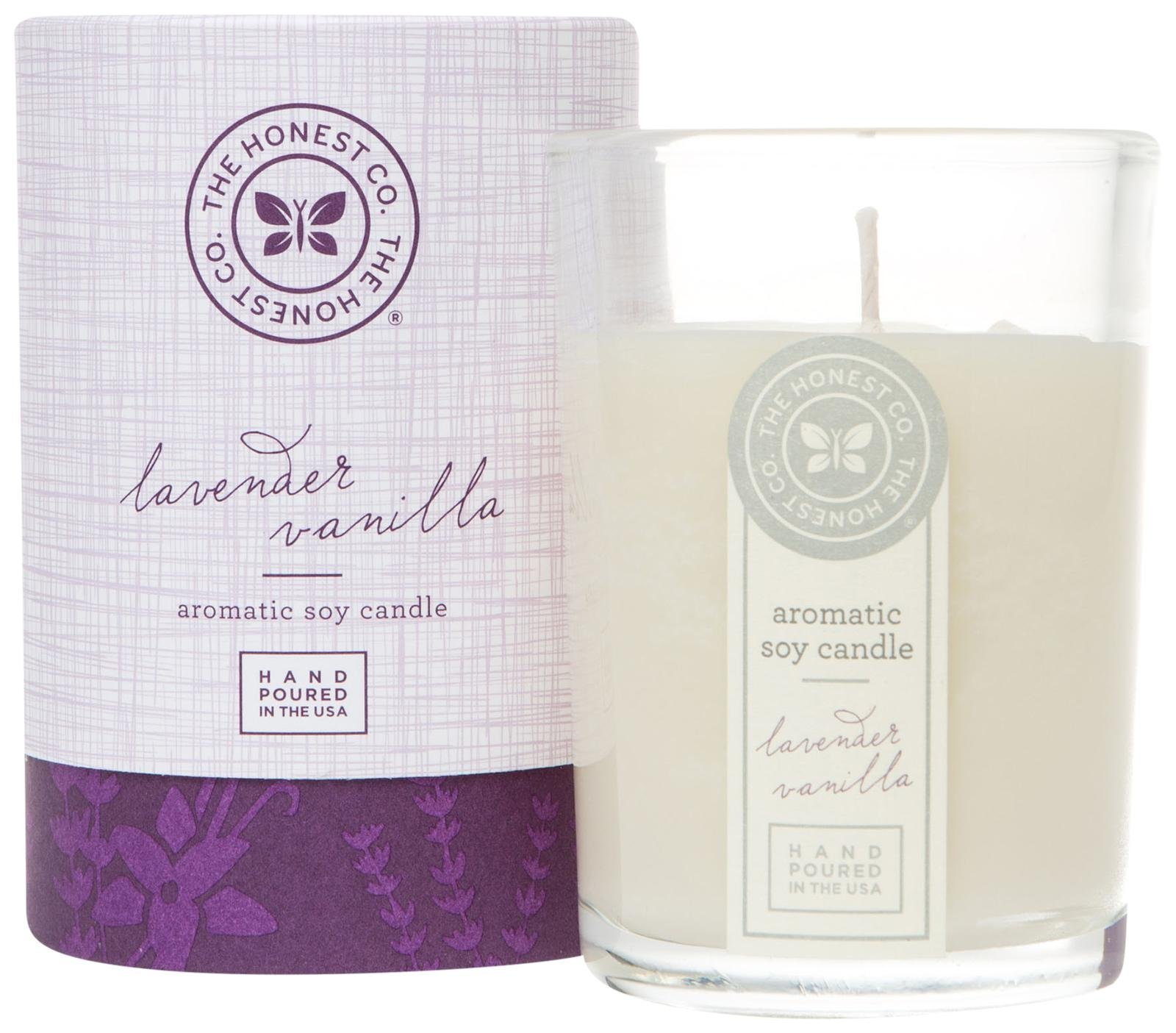 Honest Aromatic Soy Candle, Lavender Vanilla, 8 Ounce