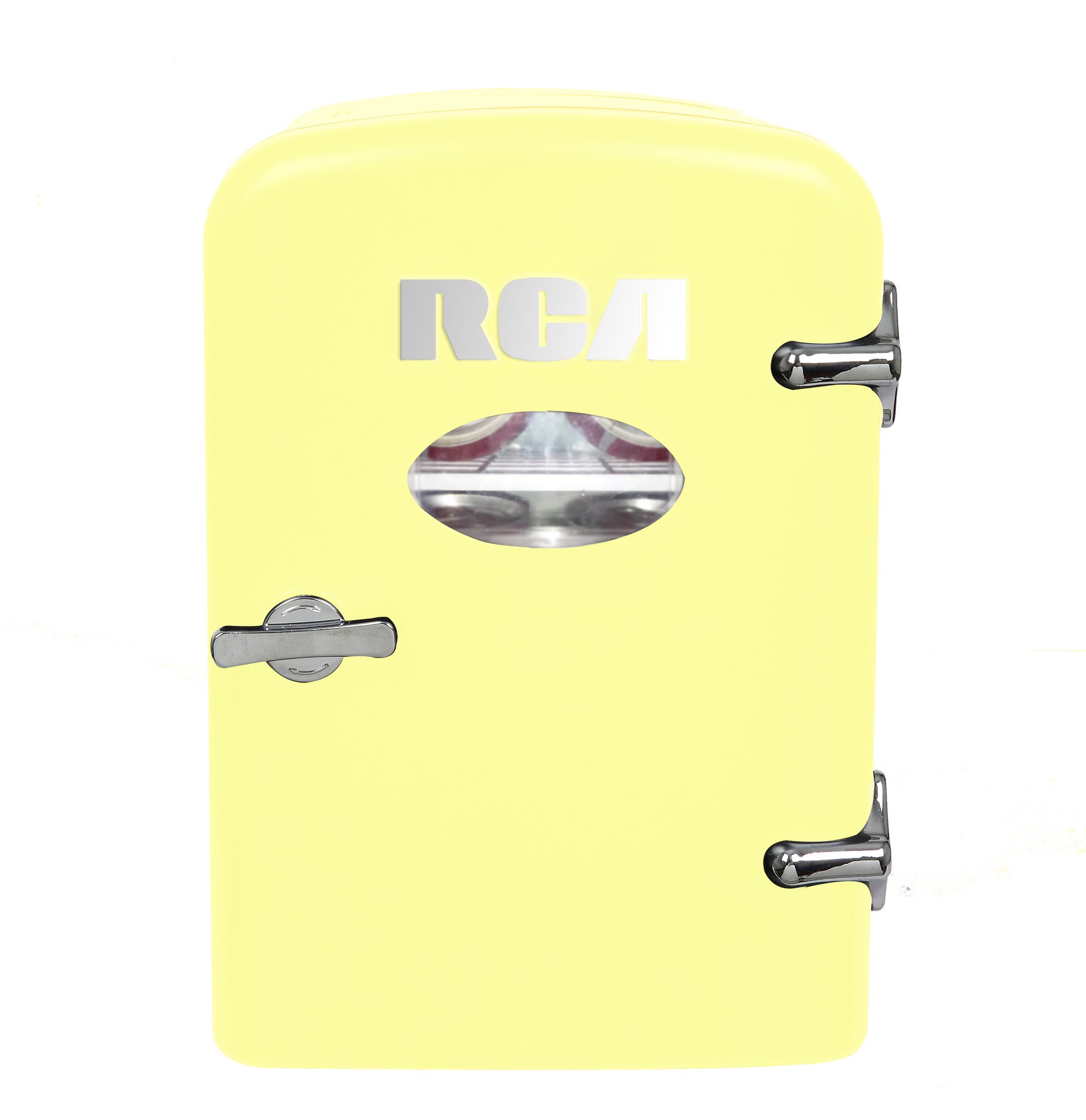 RCA Mini Compact Beverage Refrigerator, Yellow, Great for keeping office lunch and a couple drinks cool! by RCA (Image #1)