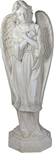 """Northlight 30"""" Ivory Angel with Arms Folded Outdoor Garden Statue"""