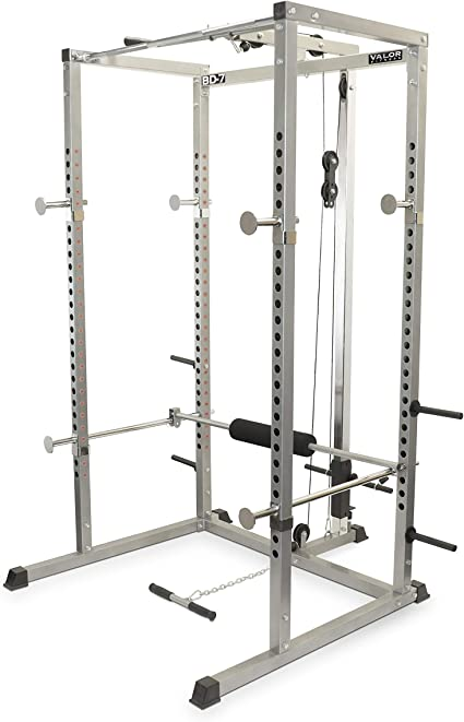 Valor Fitness bd-7 Power Rack con Lat Pull Attachment: Amazon.com.mx: Deportes y Aire Libre