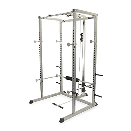 Valor Fitness BD-7 Power Rack with LAT Pull Attachment   Pull Up Station 8d6079b8bff56
