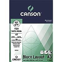 Bloco Técnico A3 120g/m², Canson, 66667155, Layout, 50 Folhas