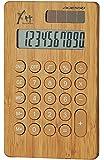 ADESSO(アデッソ) GREEN PRODUCTS デザイン電卓 竹の電卓 10桁表示 ブラウン 8679