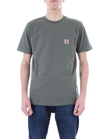competitive price 67b41 4bbf7 Carhartt Pocket T-Shirt Uomo Verde I022091208: Amazon.co.uk ...