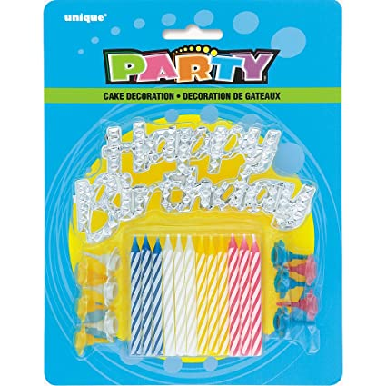 Image Unavailable Not Available For Color Assorted Striped Birthday Candles With Holders