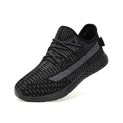 8e7d734952a465 LOHOTEK Flyknit Sportschuhe Herren Sneakers für Männer - Casual  Wanderschuhe Fashion Sneaker rutschfeste Loafer Athletic Running Gym Outdoor
