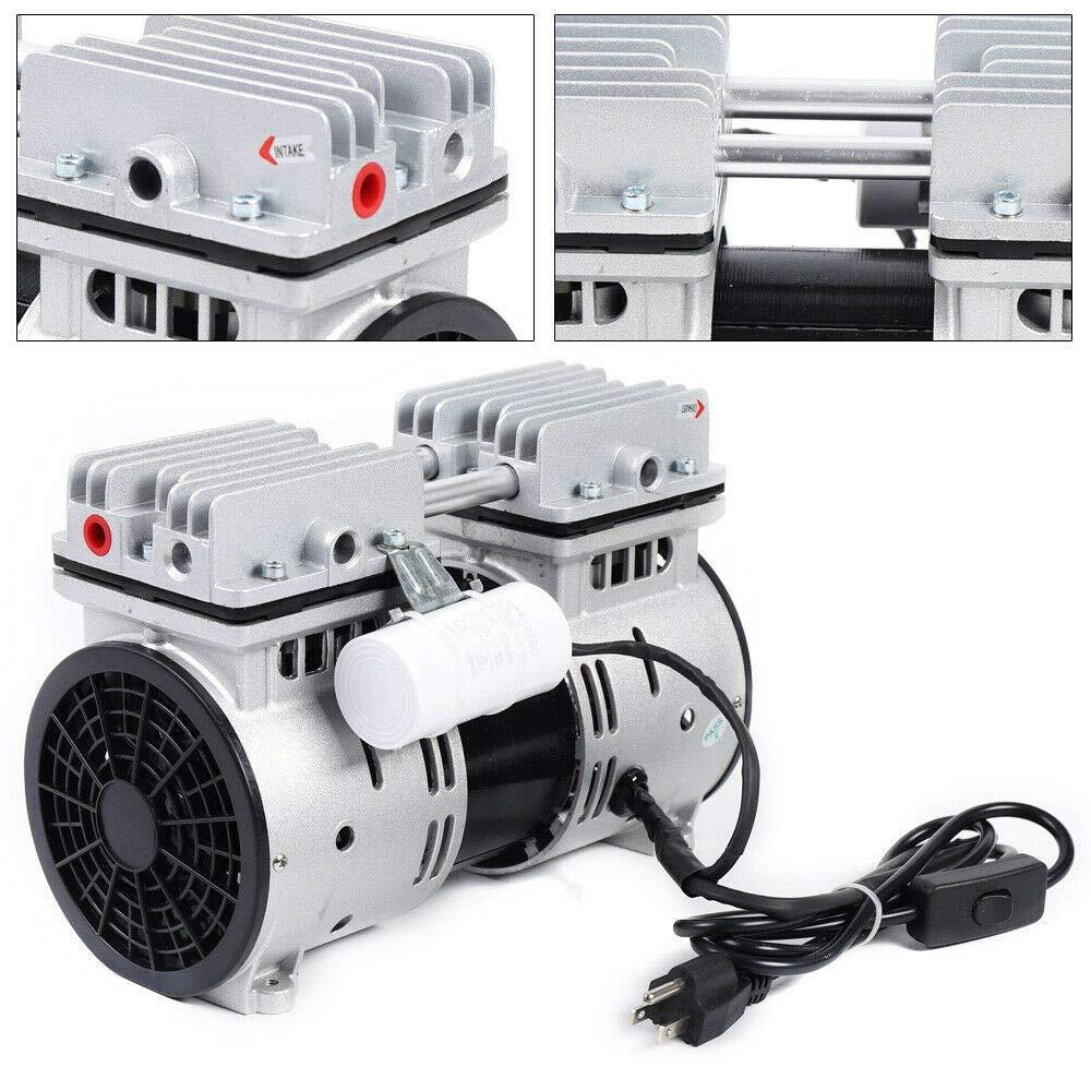 110V Oilless Diaphragm Vacuum Pump Oil Free Electric Motor Vacuum Pump 67L/min