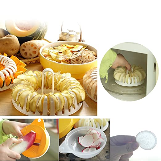 Compra dodorm (TM) Microondas patatas chips Machine patatas ...