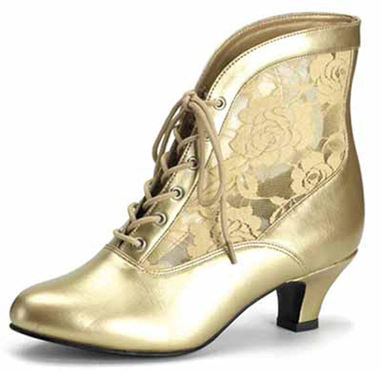 Funtasma Schuhe für Grand Dames: Dame-05 Kostümschuhe  37 EU Gold Matt