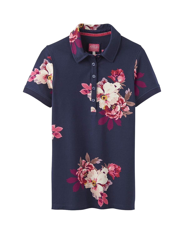 Joules Pippa Print Womens Polo Shirt - French Navy Bircham Bloom Joules Ltd