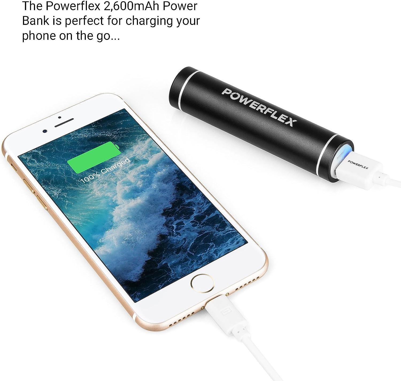 Powerflex Cargador de batería portátil (2600 mAh) – Batería Mini ...