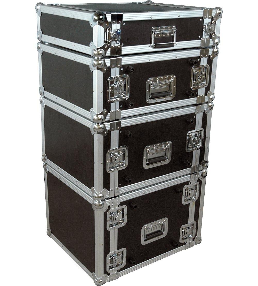 Musician's Gear Rack Flight Case 6 Space Black Musician' s Gear 6UADE