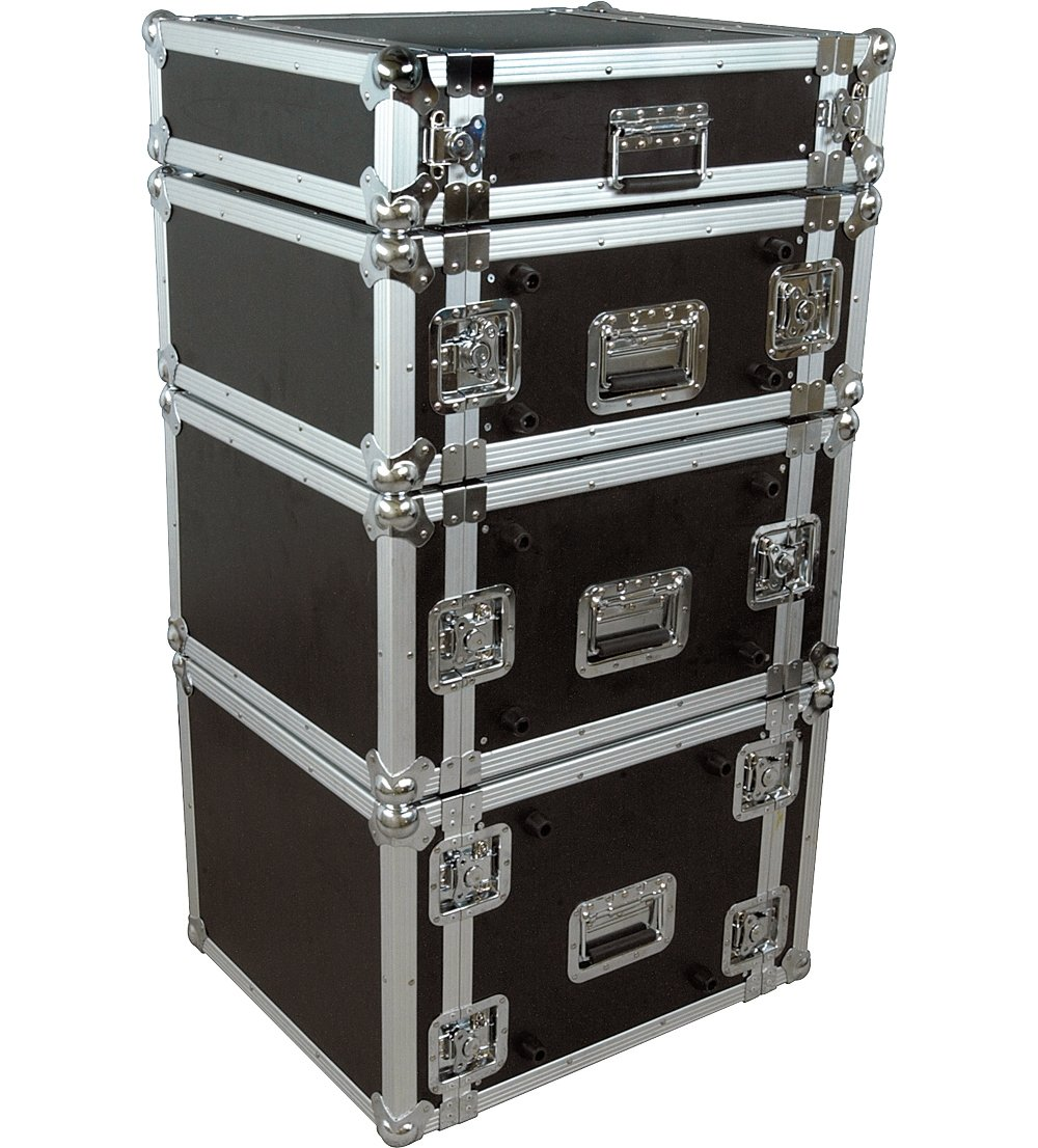 Musician's Gear Rack Flight Case 2 Space Black by Musician's Gear