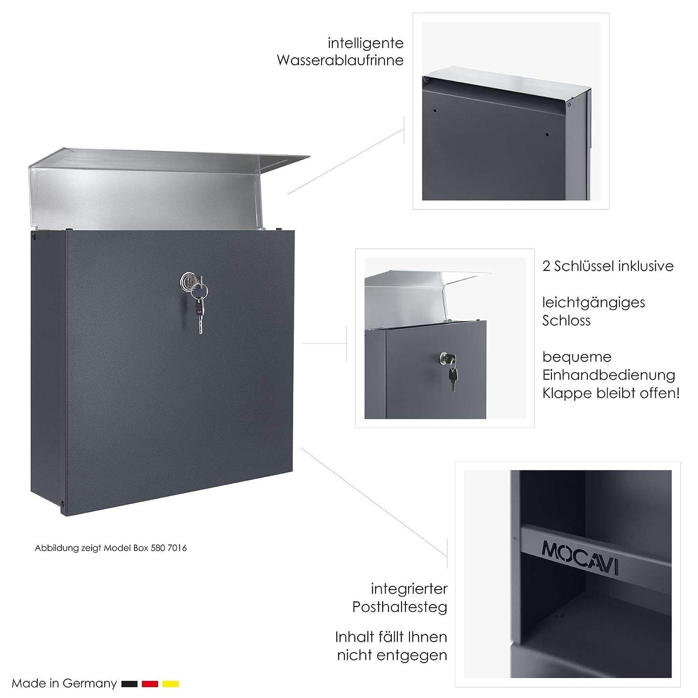 Mocavi Box 580 ral 7016 Buz/ón de dise/ño acero inoxidable color gris