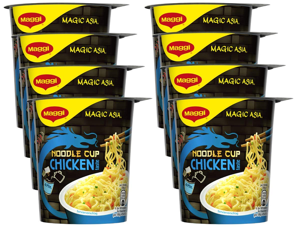 Maggi magic asia noodle cup chicken instant nudel snack