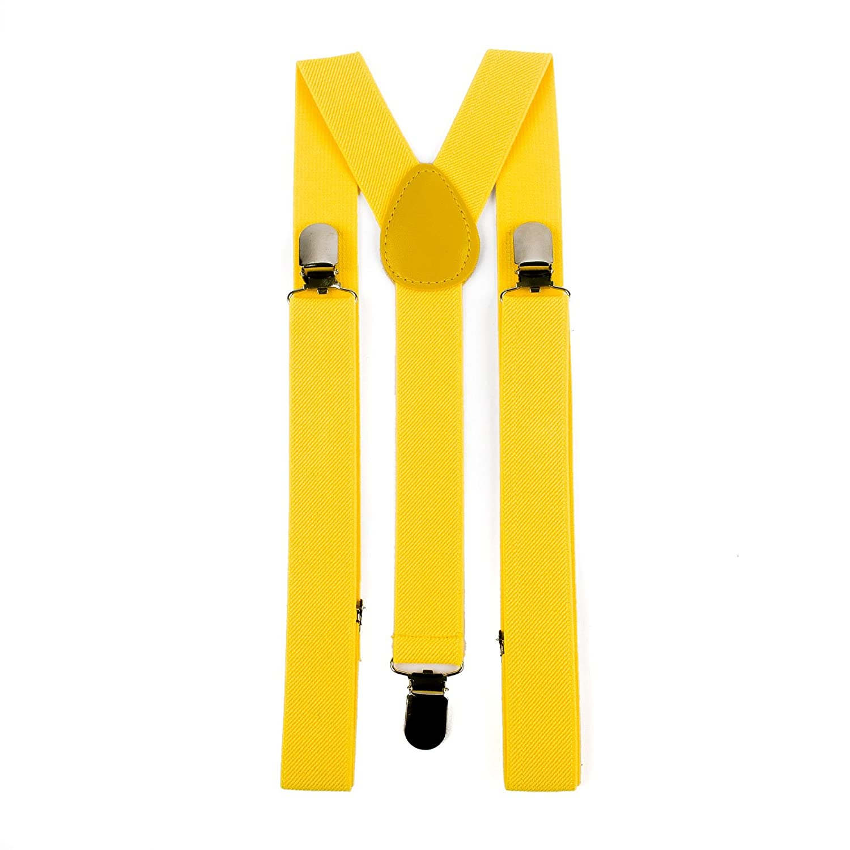 Mens Ladies Unisex Novelty Adjustable Suspenders Braces Plain
