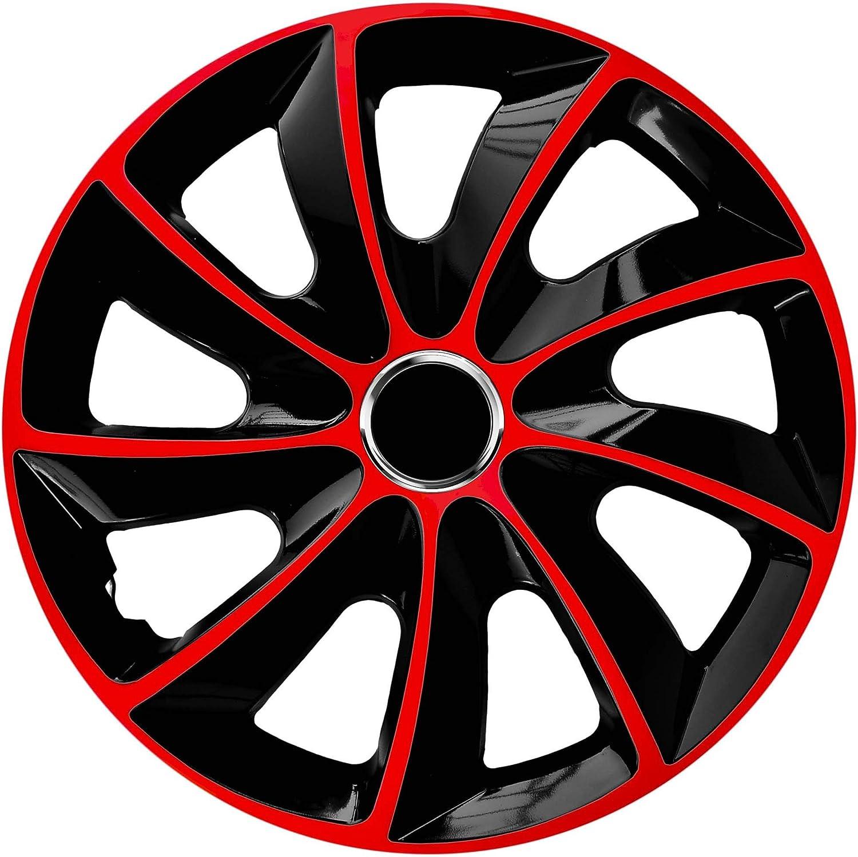 Centurion Radzierblende Stig Extra Rot Schwarz 15 Zoll 4er Set Auto