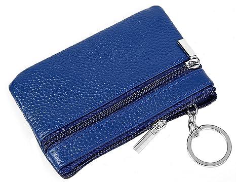e76619f24f iSuperb RFID Portamonete Astuccio Portachiavi in Pelle Portachiavi  Raccoglitore Chiavi Piccolo 11.4x7.4cm (